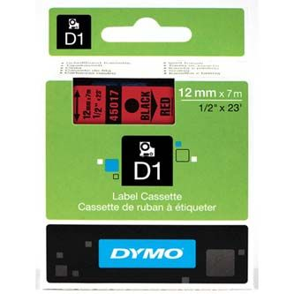 Originál DYMO páska S0720570 D1 12mm x 7m čierna na červenej 45017