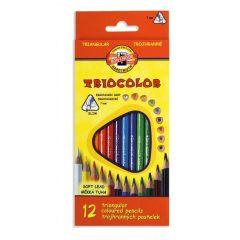 Trojhranné farebné ceruzky TRIOCOLOR 12ks