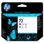 HP originálna tlačová hlava C9383A / HP 72 cyan (azúrová) + magenta (purpurová)