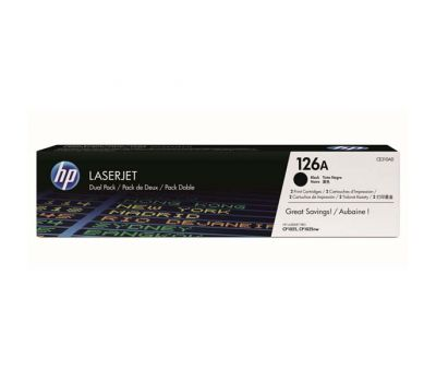 HP Toner CE310AD / HP 126A black dualpack 2 x 1 200 pages