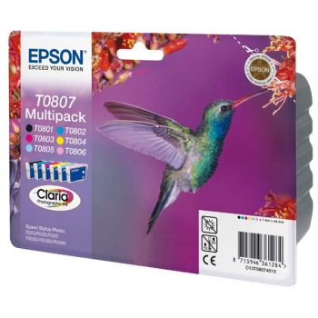 Epson Original Inkjet C13T08074011 black, cyan, yellow, magenta, light cyan, light magenta