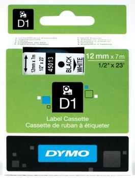 Originál DYMO páska S0720530 D1 12mm x 7m čierna na bielej 45013
